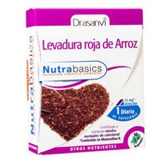 Nutrabasics Levadura Roja de Arroz Drasanvi - 30 cápsulas