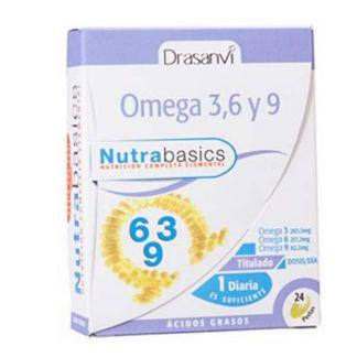Nutrabasics Omega 3, 6 y 9 Drasanvi - 24 perlas