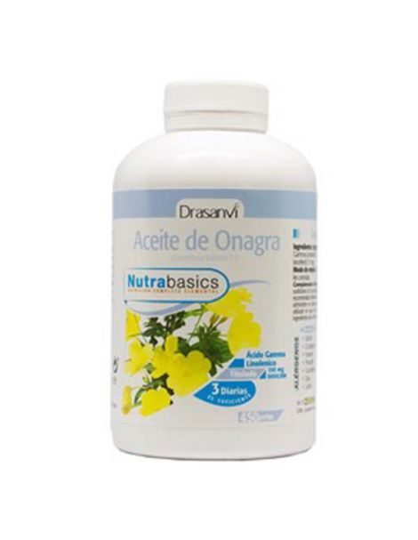 Nutrabasics Aceite de Onagra Drasanvi - 450 perlas