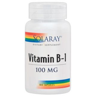 Vitamina B1 100 mg. Solaray - 100 cápsulas