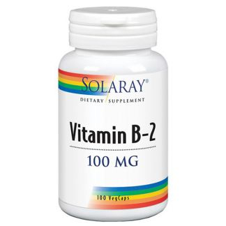 Vitamina B2 100 mg. Solaray - 100 cápsulas
