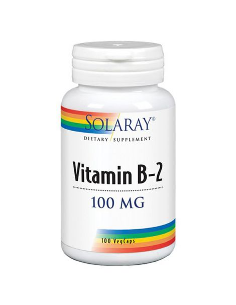 Vitamina B2 100 mg. Solaray - 100 cápsulas