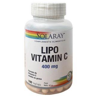 LIPO Vitamina C 400 mg. Solaray - 100 cápsulas