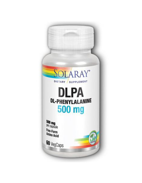 DL-Phenylalanine 500 mg. Solaray - 60 cápsulas