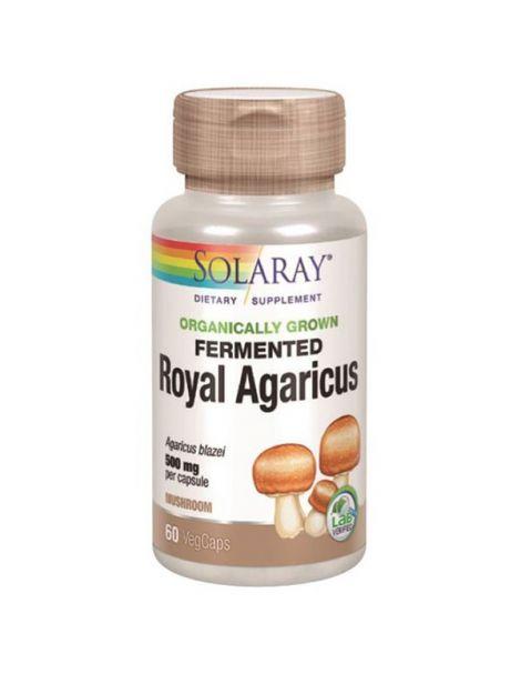 Royal Agaricus (Champiñón del Sol) Solaray - 60 cápsulas
