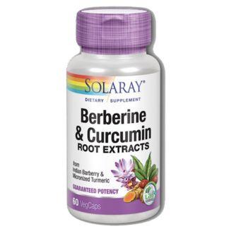 Berberine - Curcumin Solaray - 60 cápsulas
