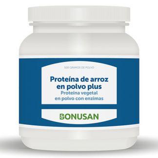 Proteína de Arroz en Polvo  Plus Sabor Vainilla Bonusan - 500 gramos