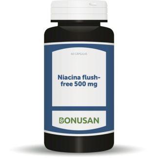 Niacina Flush-Free 500 mg. Bonusan - 60 cápsulas