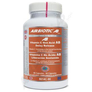Vitamina C No Ácida de Liberación Sostenida Airbiotic - 90 cápsulas