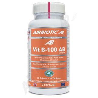 Vitamina B-100 Complex Airbiotic - 30 comprimidos