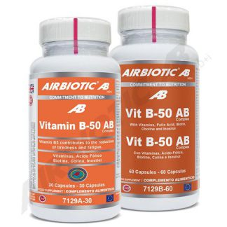 Vitamina B-50 Complex Airbiotic - 30 cápsulas
