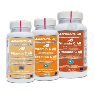Vitamina C 1000 mg. Liberación Sostenida Airbiotic - 120 comprimidos