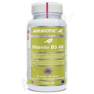 Vitamina D3 1000 UI Airbiotic - 90 comprimidos