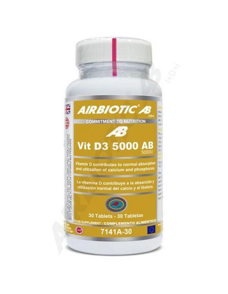 Vitamina D3 5000 UI Airbiotic - 90 comprimidos
