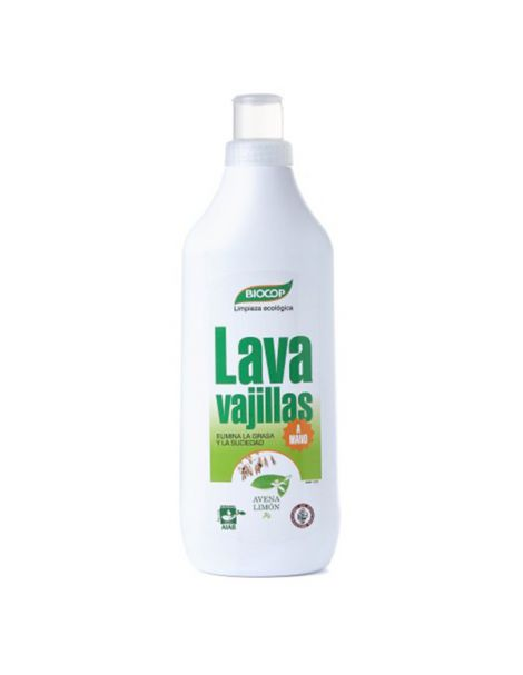 Lavavajillas a Mano Avena y Limón Biocop - 1000 ml.