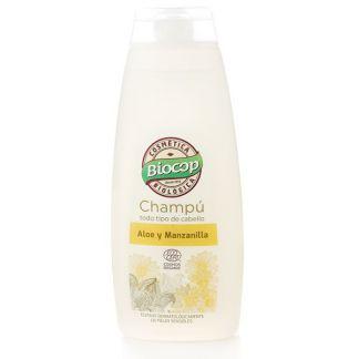 Champú de Aloe y Manzanilla Biocop - 400 ml.