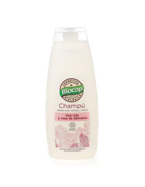 Champú de Uva Roja y Rosa de Damasco Biocop - 400 ml.