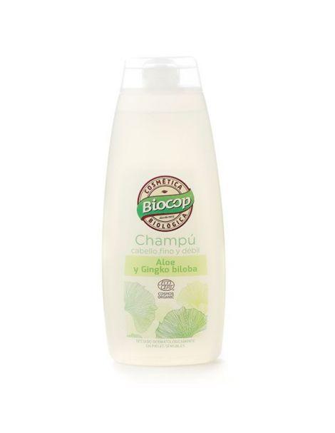 Champú de Aloe y Ginkgo Biloba Biocop - 400 ml.