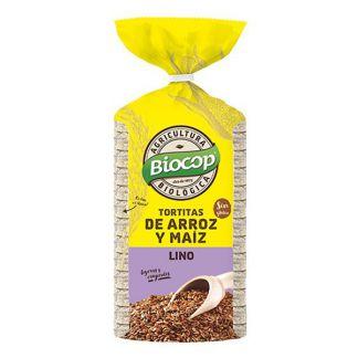 Tortitas de Arroz, Maíz y Lino Biocop - 200 gramos
