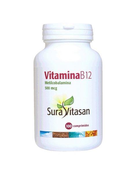 Vitamina B12 (Metilcobalamina) 500 mcg. Sura Vitasan - 100 cápsulas