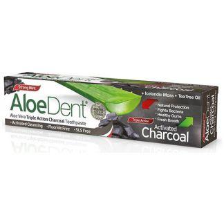 Dentífrico Carbón Activo Aloedent Optima - 100 ml.