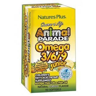 Animal Parade Omega 3/6/9 Nature's Plus - 90 perlas