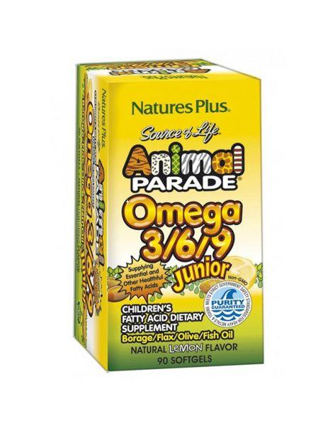 Animal Parade Omega 3/6/9 Nature's Plus - 90 perlas