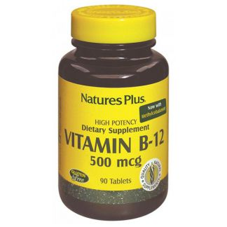 Vitamina B12 500 mcg. Nature's Plus - 90 comprimidos