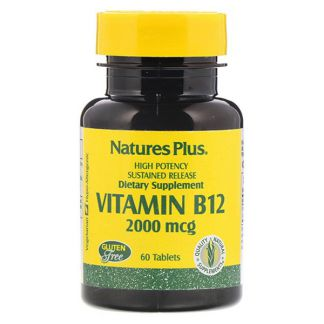 Vitamina B12 2000 mcg. Nature's Plus - 60 comprimidos