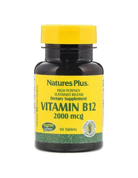 Vitamina B12 2000 mcg. Nature's Plus - 60 comprimidos