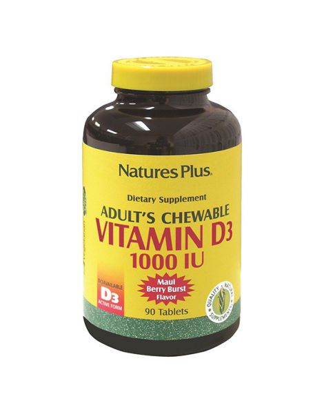 Vitamina D3 1000 UI Nature's Plus - 90 comprimidos