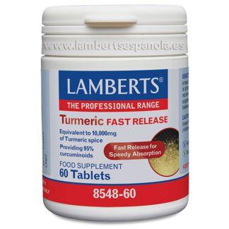 Cúrcuma Liberación Rápida Lamberts -  60 tabletas