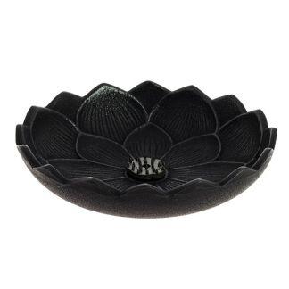 Incensario Flor de Loto Negro Iwachu