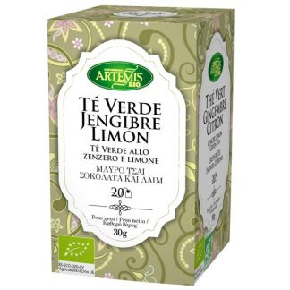 Té Verde Jengibre Limón Bio Artemis Herbes del Molí - 20 bolsitas