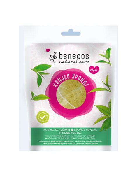 Esponja Konjac Té Verde Piel Mixta Benecos