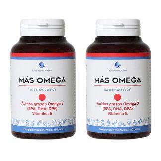 Más Omega Punto Rojo Mahen - 2 x 180 perlas