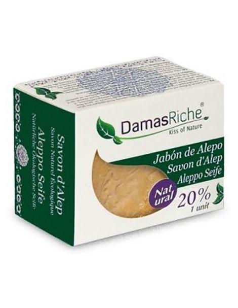 Jabón de Alepo 20% Damasriche - pastilla de 200 gramos