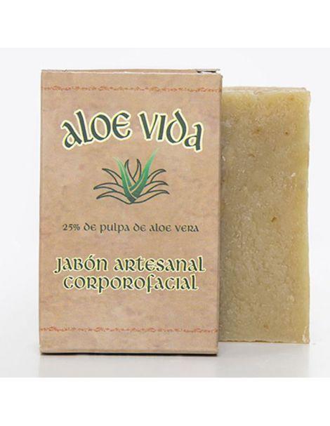 Jabón Artesanal Corpofacial de Aloe Vera Aloe Vida - 100 gr.