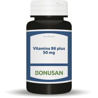Vitamina B6 Plus 50 mg. Bonusan - 60 cápsulas