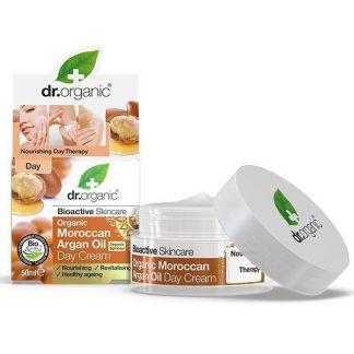 Crema de Día con Aceite de Argán Marroquí Dr. Organic - 50 ml.