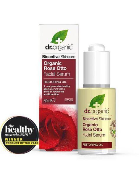 Sérum Facial Rosa de Damasco Dr. Organic - 30 ml.