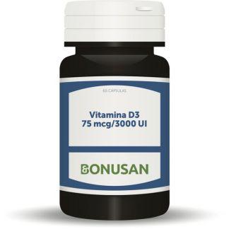 Vitamina D3 3000 UI 75 mcg. Bonusan - 60 cápsulas
