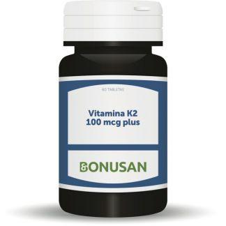 Vitamina K-2 100 mcg. Plus Bonusan - 60 tabletas
