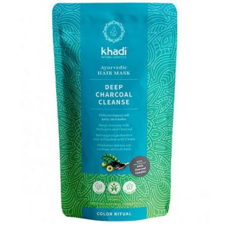 Mascarilla Capilar Limpieza Profunda Carbón Activado Khadi - 50 gramos