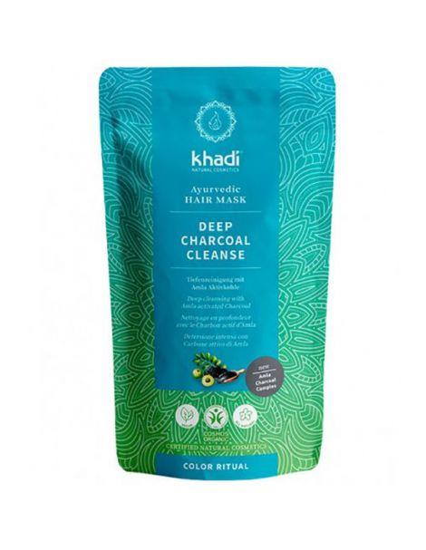 Mascarilla Capilar Limpieza Profunda Carbón Activado Khadi - 150 gramos