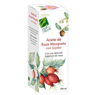 Aceite de Jojoba con Rosa Mosqueta Cien por Cien Natural - 100 ml.