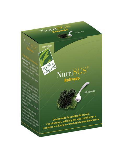 NutriSGS Activado Cien por Cien Natural - 60 cápsulas