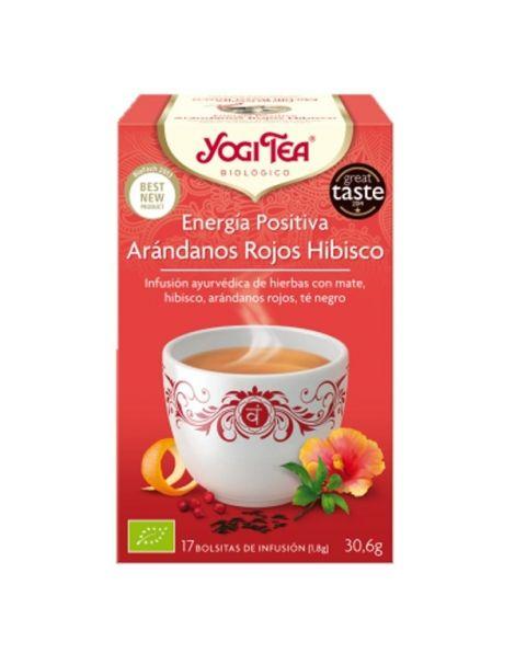 Yogi Tea Energía Positiva Arándanos Rojos Hibisco - 17 bolsitas