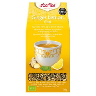 Yogi Tea Ginger Lemon Chai - 90 gramos