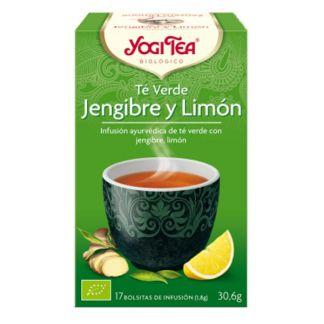 Yogi Tea Té Verde Jengibre y Limón - 17 bolsitas